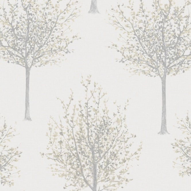 Holden Decor Epping White Multi Wallpaper 12231 Trees Forest Birds Butterflies